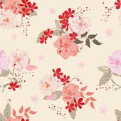 Abstract floral seamless pattern background — Stock Vector