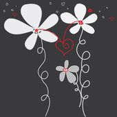 Abstract caress flower background. Banner. — 图库矢量图片