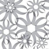 Sfondo trasparente modello fiore astratto — Vettoriale Stock