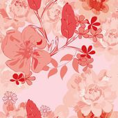 Abstract floral naadloze patroon achtergrond — Stockvector