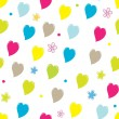 Valentine seamless pattern background — Stock Vector