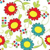 Flower seamless pattern — Vector de stock