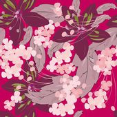 Summer flower seamles pattern — 图库矢量图片