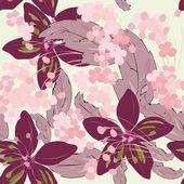 Summer flower seamles pattern — Stock Vector