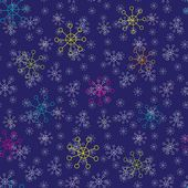 Snowflake background. Seamless pattern. — Stock Vector
