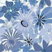 Impression de fond abstrait fleur transparente — Vecteur