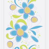 Abstract vertical flower seamless pattern background — Stock Vector