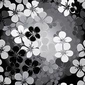 抽象的な花のシームレスなパターン背景 — ストックベクタ