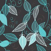 Abstract foliage seamless pattern background — Stock Vector