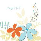 Stylish flower backgrounds — Stock Vector