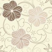 Floral seamles pattern — Stock Vector