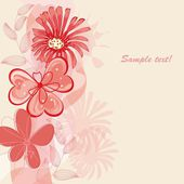 Flower backgrounds.Graphic decor symbol. — 图库矢量图片