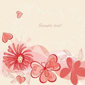 Flower backgrounds.Graphic decor symbol. — Vettoriale Stock