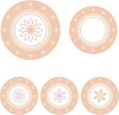 Collection pink dish background. — Stockvector