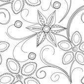 Teste padrão floral seamles — Vetor de Stock
