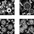 Stock Vector: Floral seamless pattern collection