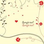 Romantic valentine background — Stock Vector
