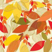 抽象树叶无缝图案背景 — 图库矢量图片