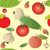 Vegetables seamless pattern — Stock Vector