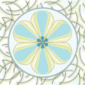 Flower backgrounds.Graphic decor symbol. — Stockvector