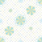 Abstraktní květinový vzor bezešvé pozadí — Stock vektor