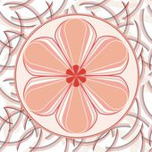 Flower backgrounds.Graphic decor symbol. — Vecteur