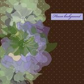 Flower backgrounds.Graphic decor symbol. — ストックベクタ