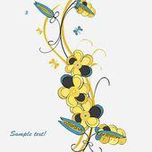 Romantic floral background — Vetorial Stock