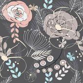 Soyut çiçek dikişsiz desen arka plan — Stok Vektör