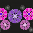 Floral design elements and page decoration. Vector set — Imagen vectorial