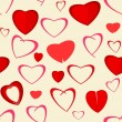 Heart seamless pattern background — Imagen vectorial