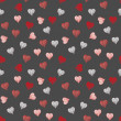 Stock Vector: Heart seamless pattern background