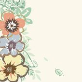 Stylish flower backgrounds — Stockvektor