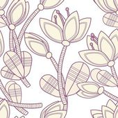 Abstract flower seamless pattern background — Stok Vektör