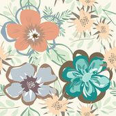 Abstract flower seamless pattern background — ストックベクタ