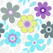 Abstract flower seamless pattern background — Stock Vector