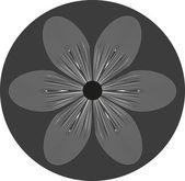 Stylish flower  backgrounds.Logo. — Stock Vector
