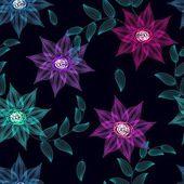 Fundo flor abstrata sem emenda — Vetor de Stock