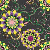 Abstracte bloem naadloze patroon achtergrond — Stockvector
