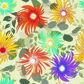 Abstrakt blomma sömlös bakgrund — Stockvektor