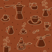 Seamless coffee pattern. — Stock Vector