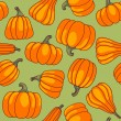 Stock Vector: Pumpkin seamless pattern.