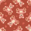 Royalty-Free Stock Immagine Vettoriale: Seamless bear patchwork pattern.