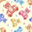 Seamless bear light patchwork pattern. - Stock Vector