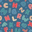 Seamless alphabet pattern. — Stock vektor