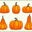 Set of pumpkins. — Stock Vector