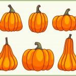 Set of pumpkins. — Stock Vector