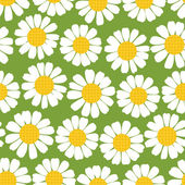 Seamless summer camomiles pattern. — Stock Vector