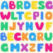 Seamless children's bright alphabet pattern — Vector de stock