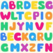 Seamless children's bright alphabet pattern — Wektor stockowy